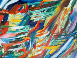 Artiste Anonyme, Sans titre, Huile sur toile